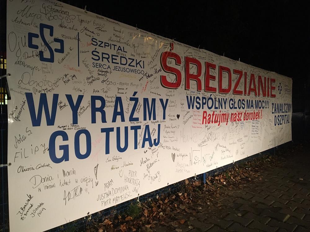 środa protest szpital - Rafał Regulski