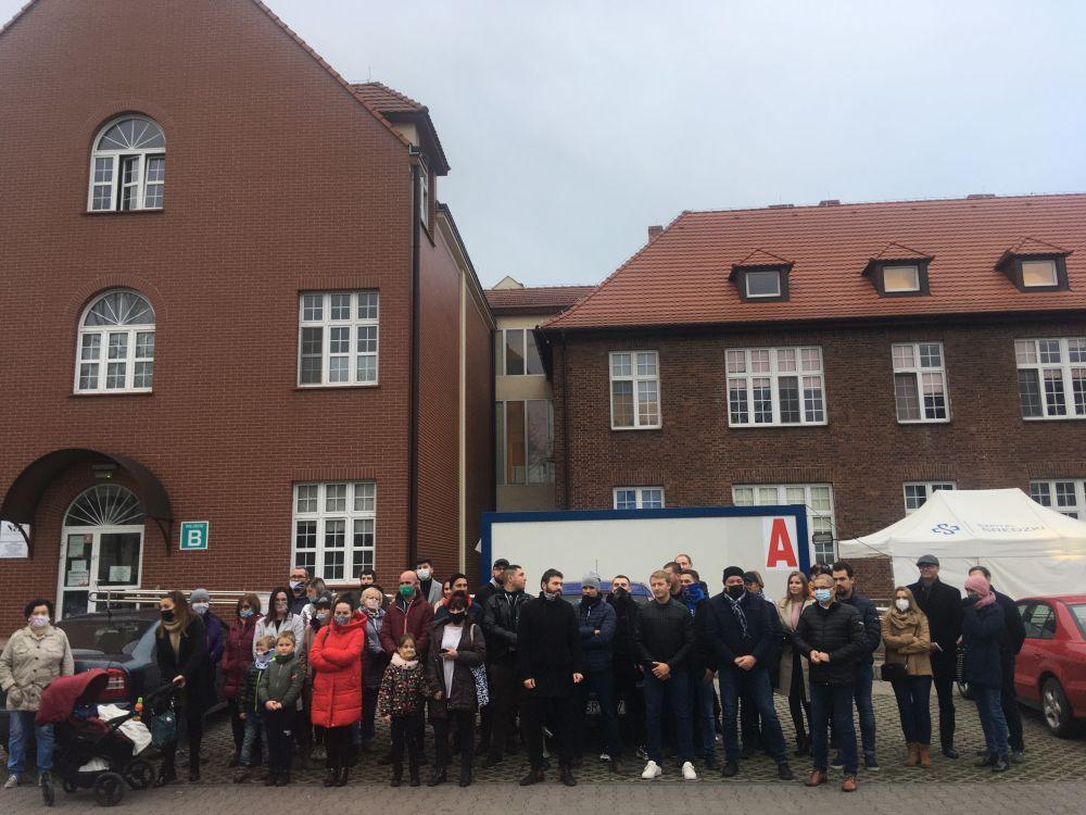 protest środa szpital - Rafał Regulski