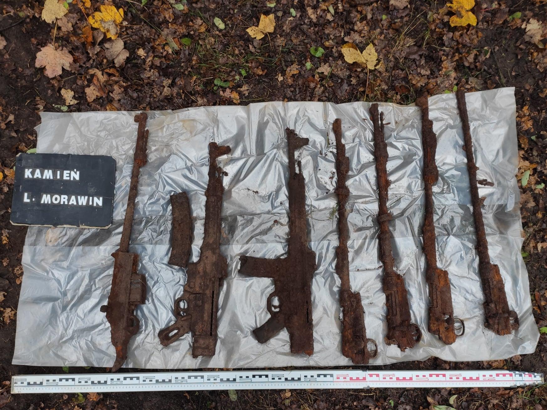 znaleziona broń lasy koło morawina kalisz - DENAR Kalisz