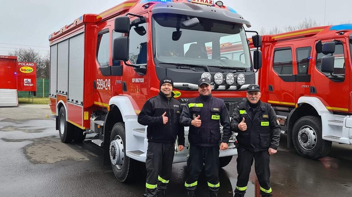 obrzycko nowy wóz - FB: Obrzycko Straż Pożarna