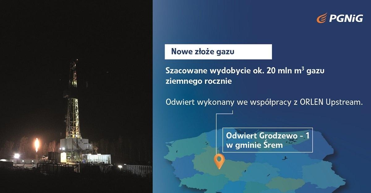 nowe złoże gaz śrem - PGNiG
