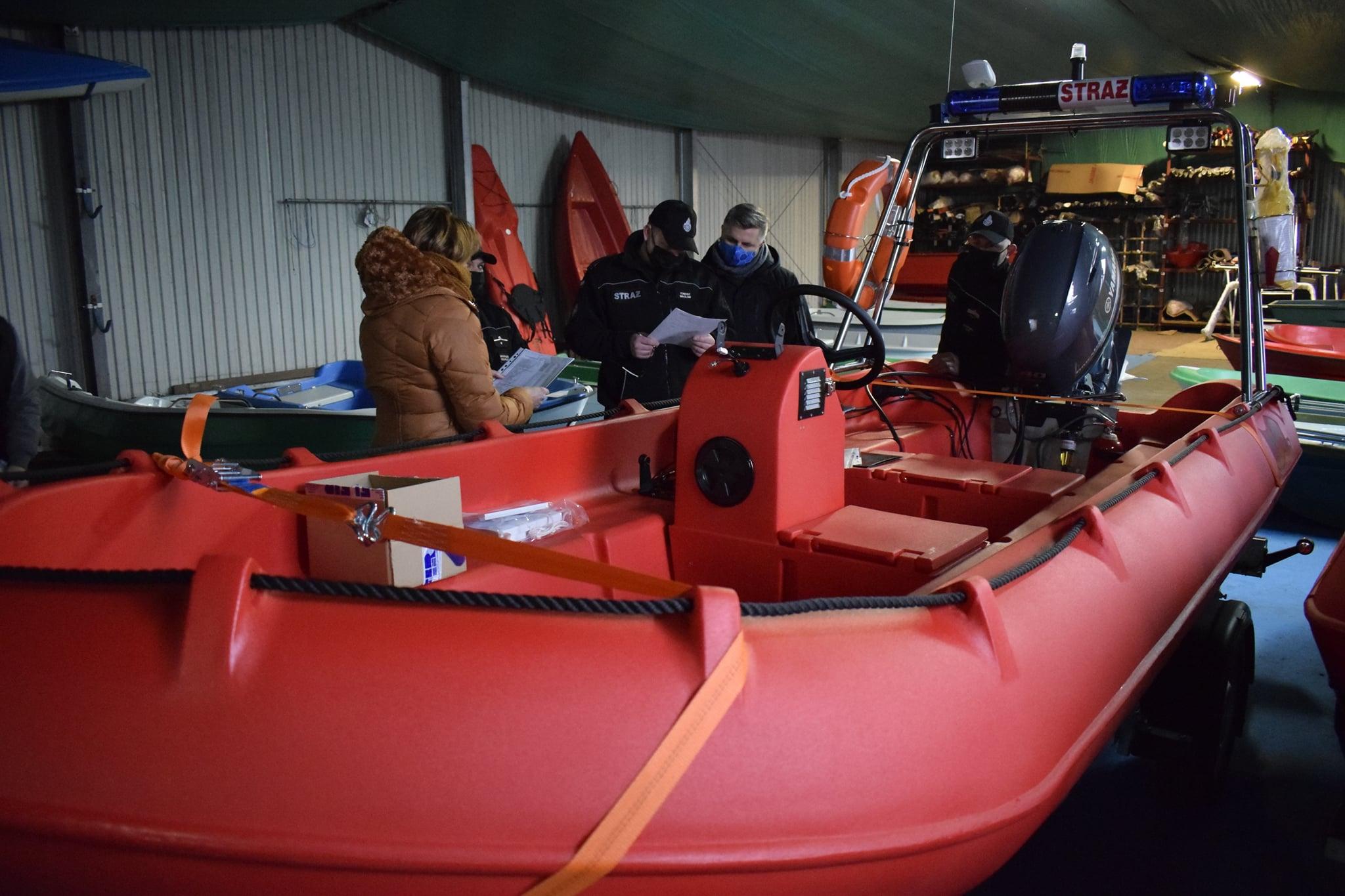 łódź ratunkowa straż - OSP Kwilcz