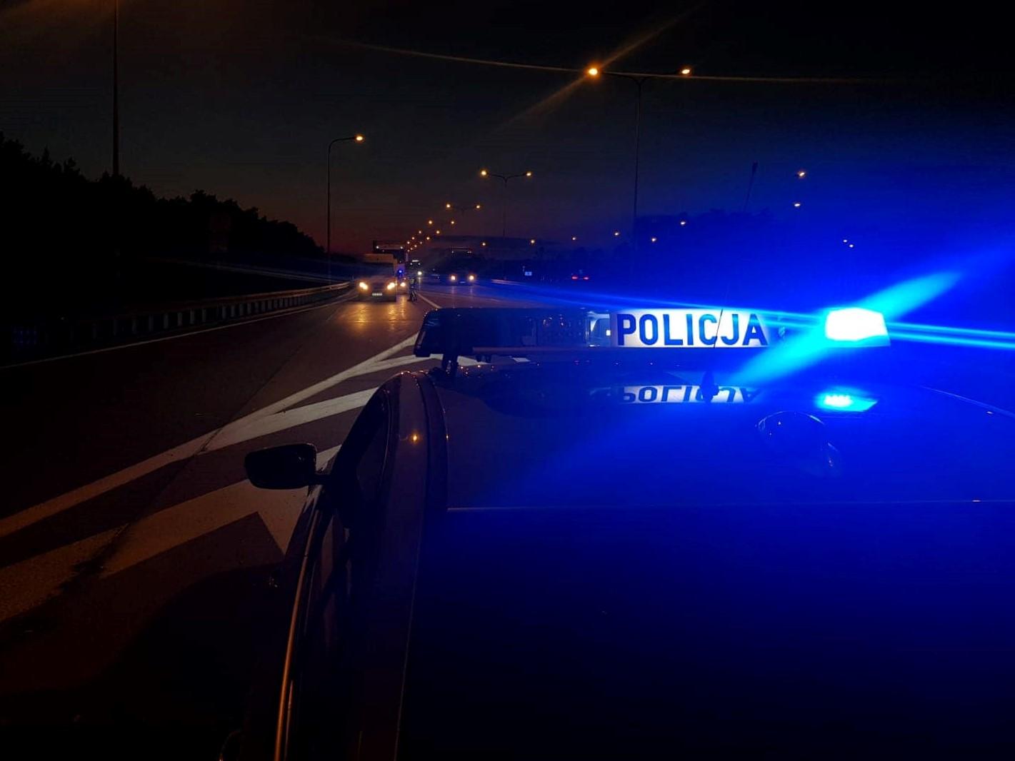 policja noc radiowóz - Wielkopolska Policja