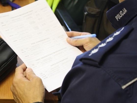 policjant protokół policja  - KPP Koło