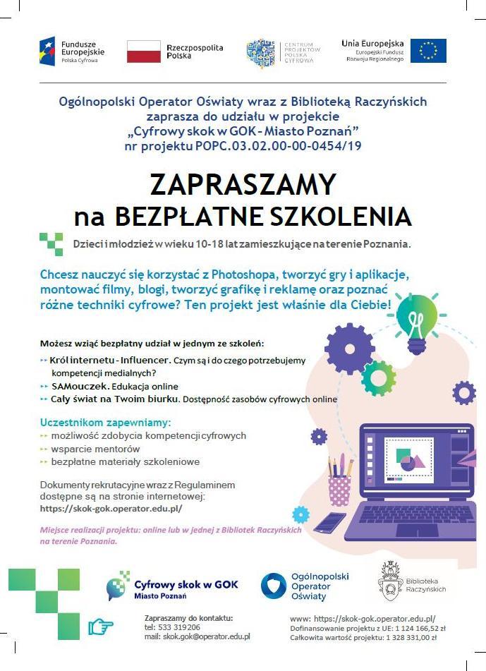 Cyfrowy skok w GOK - Miasto Poznań - Organizator