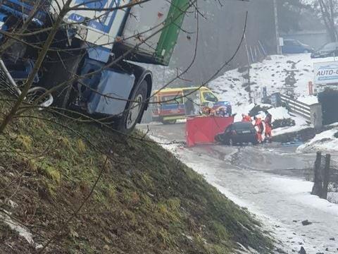 Tragiczny wypadek na krajowej 11 pod Chodzieżą - MotoSygnały/Mateusz