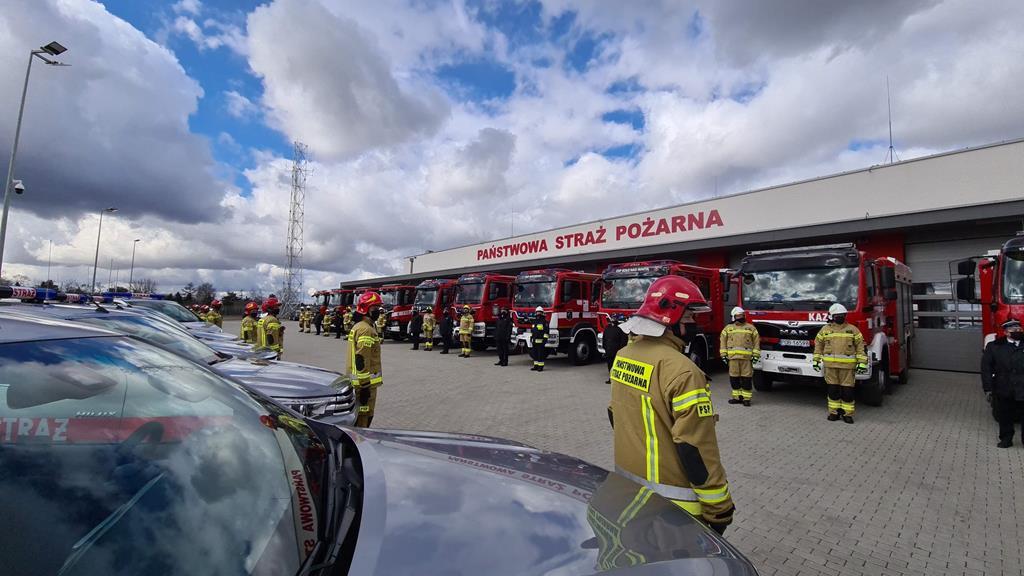 przekazanie wozów strażackich września - MSWiA