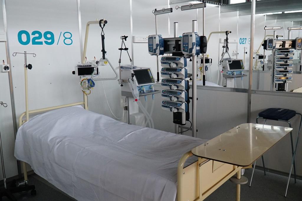 szpital targi szpital covidowy łóżko - WUW