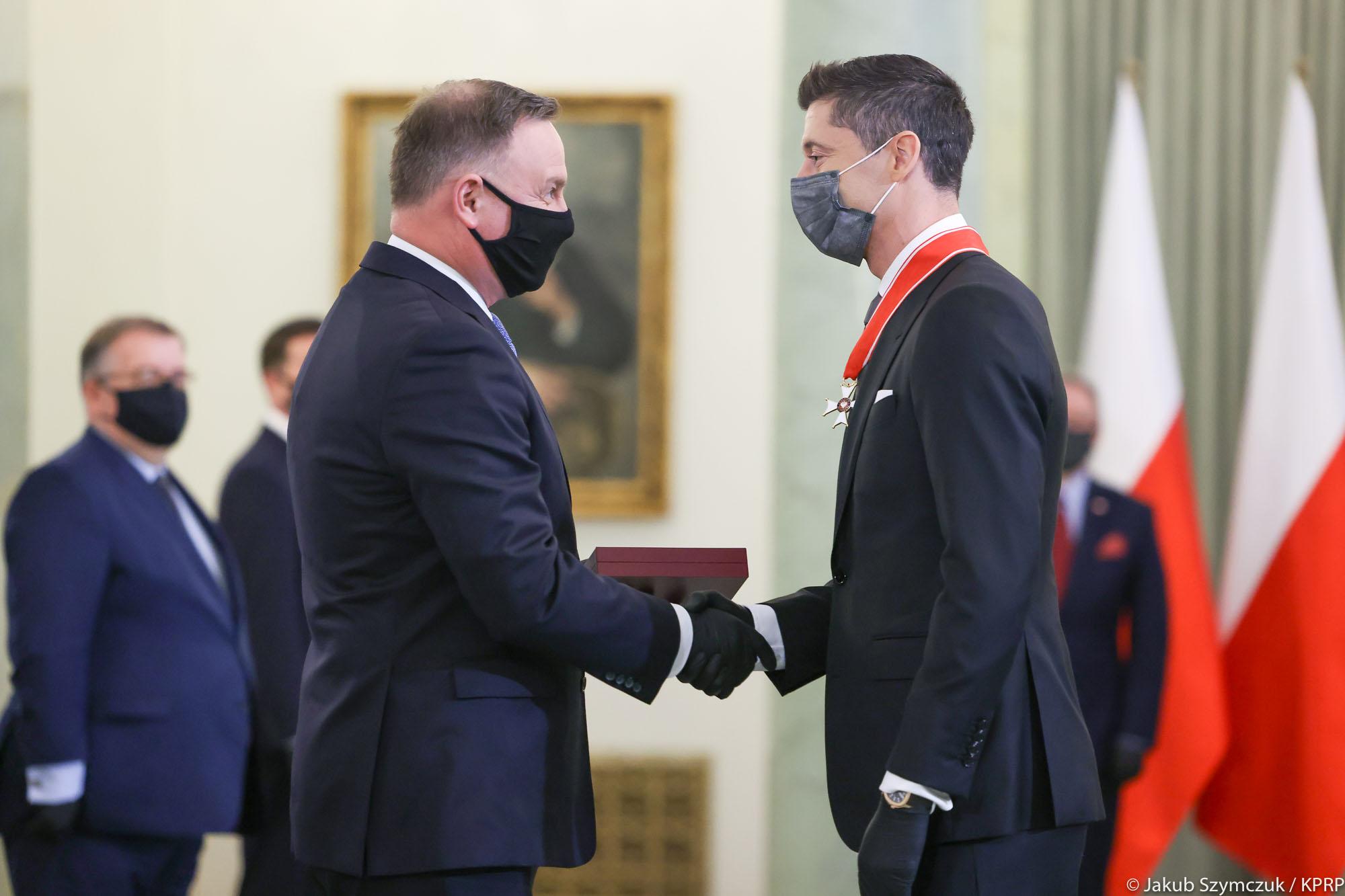 robert lewandowski odznaczony  - Jakub Szymczuk/KPRP