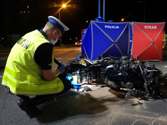 śmiertelny wypadek leszno motocyklista  - KMP Leszno