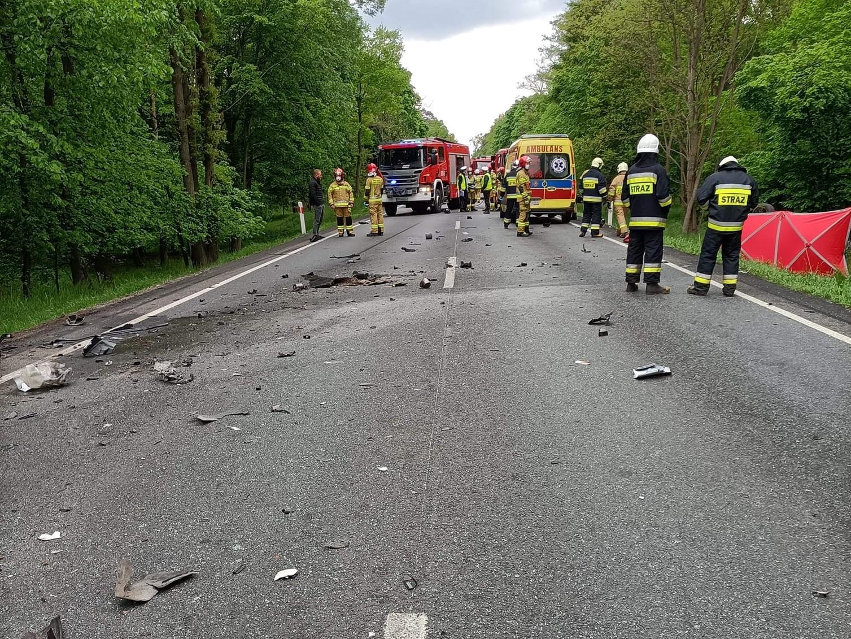 śmiertelny wypadek d11 murzynówko - OSP Miąskowo