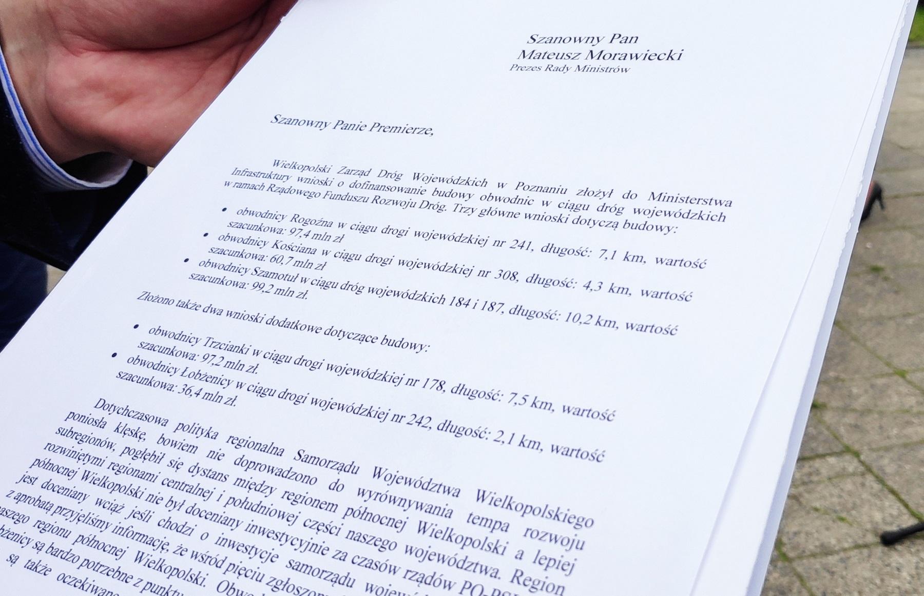 list do premiera - Przemysław Stochaj