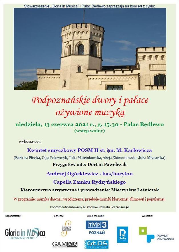 Podpoznańskie dwory i pałace ożywione muzyką 2021 - Organizator