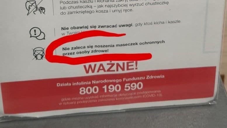 Plakaty zalecenia antycovidowe franowo błędne - Grzegorz Ługawiak - Radio Poznań