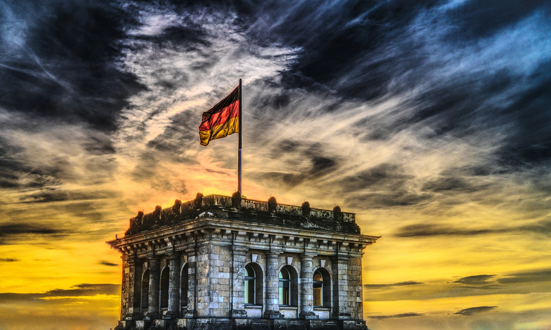 flaga niemiec budestag - Pixabay