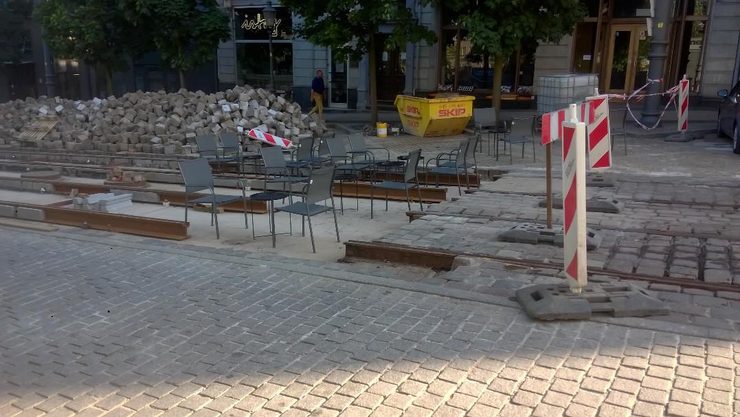 ogródek podgórna tory tramwajowe  - Słuchacz