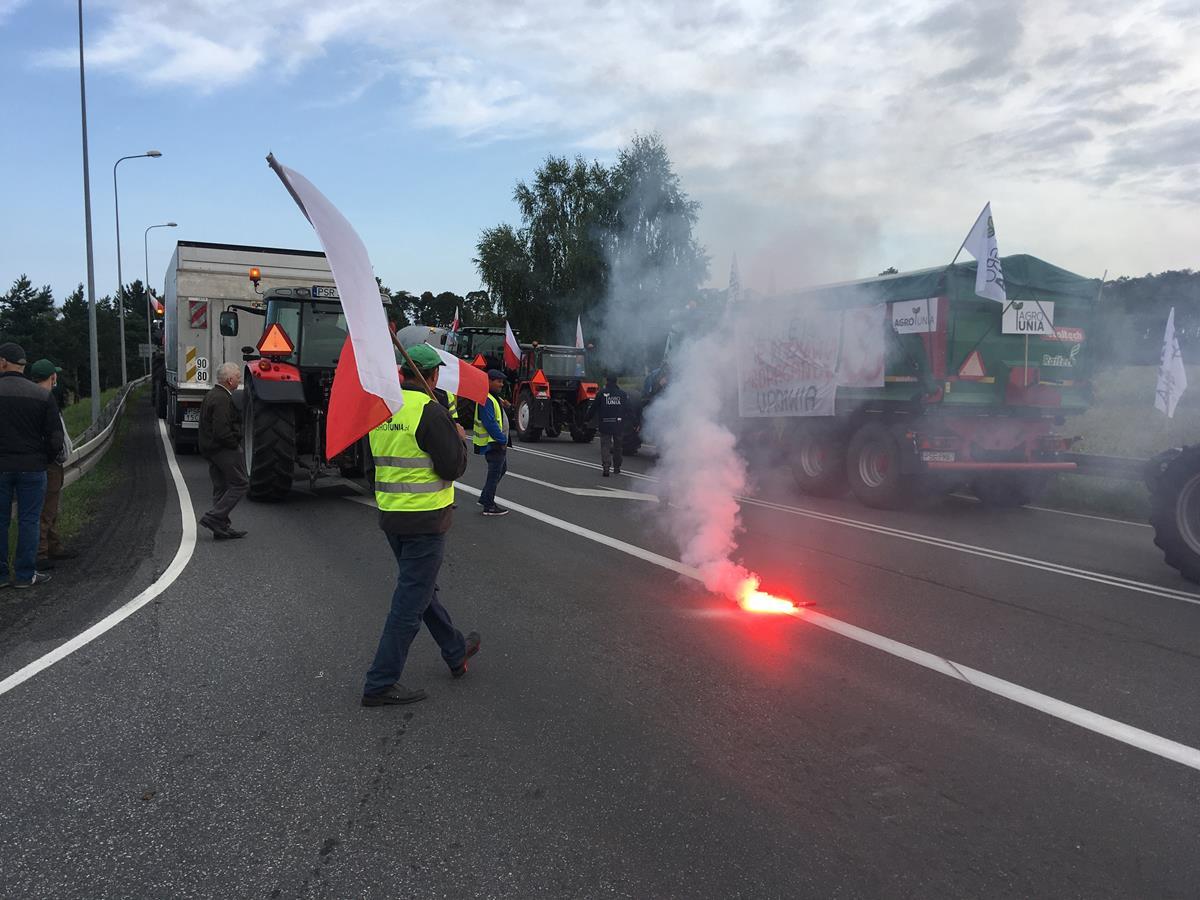 agrounia blokada protest rolników rolnicy - Rafał Regulski - Radio Poznań
