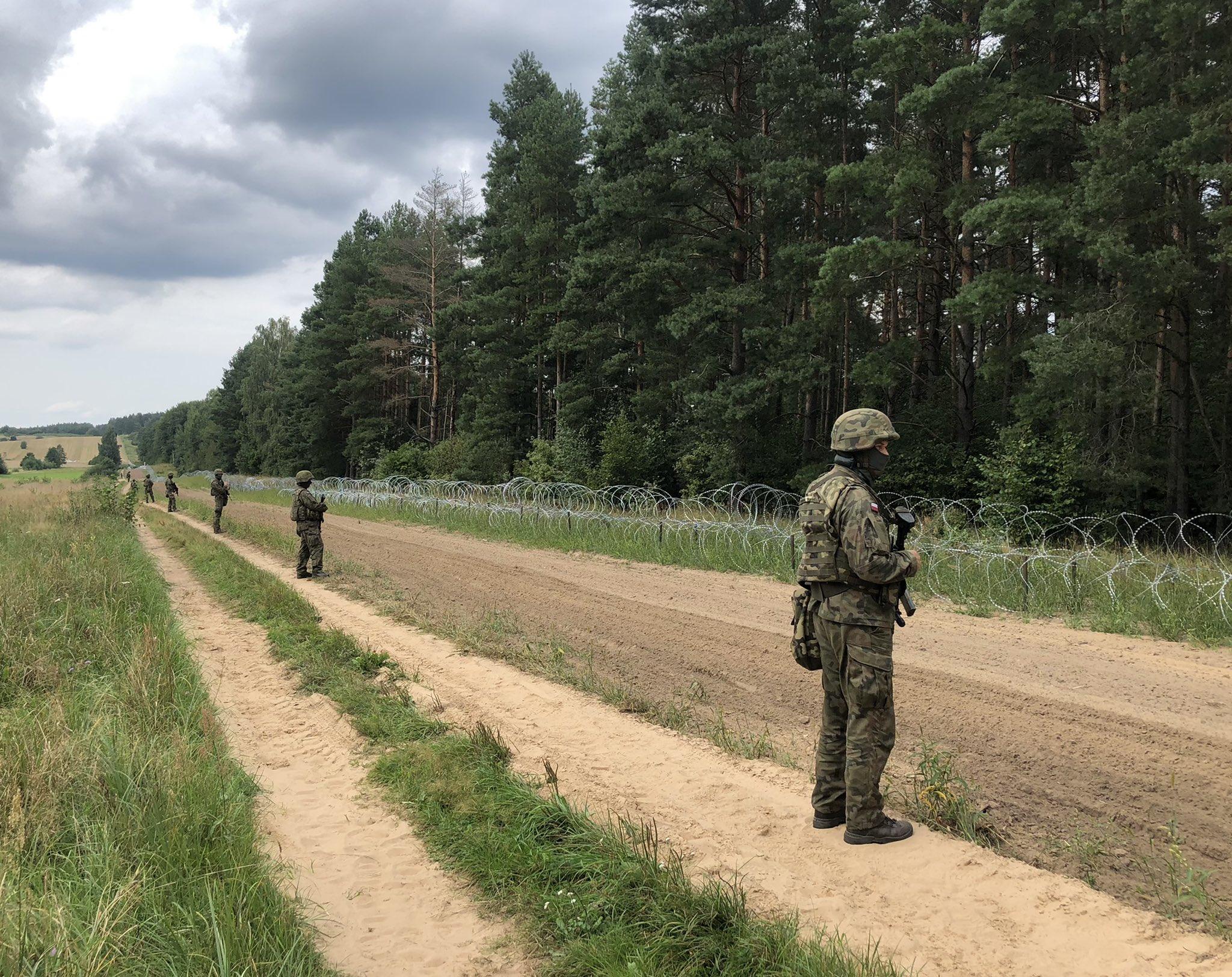 granica białoruś pogranicznicy granica  - MON