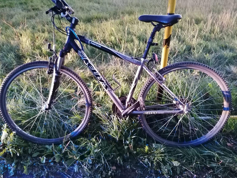 rower wędkarza porzucony  - KPP Września