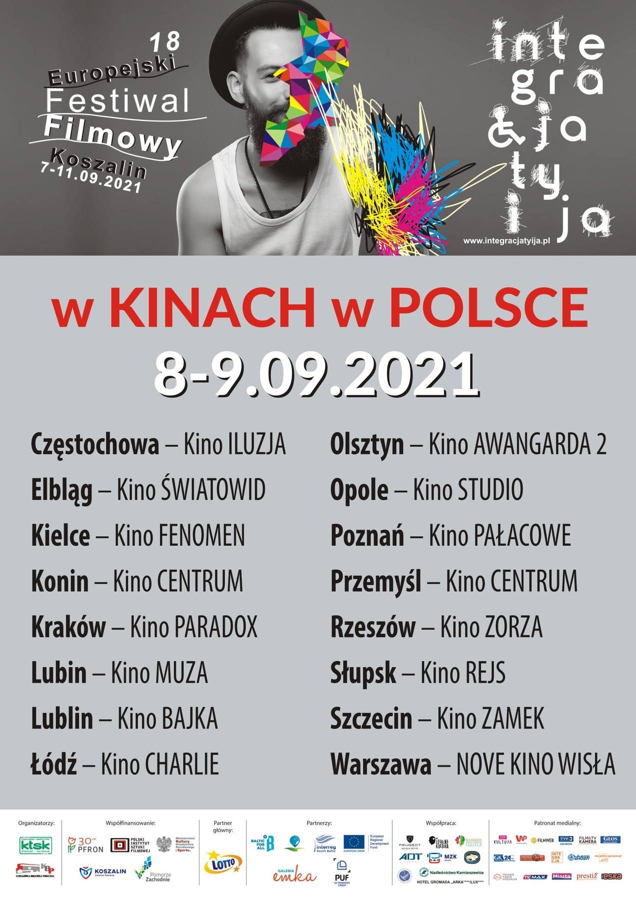 18. Europejski Festiwal Filmowy INTEGRACJA TY i JA 2021 - www.integracjatyija.pl