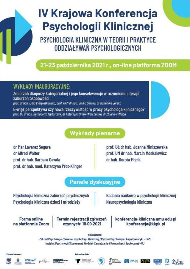 IV Krajowa Konferencja Psychologii Klinicznej - Organizator