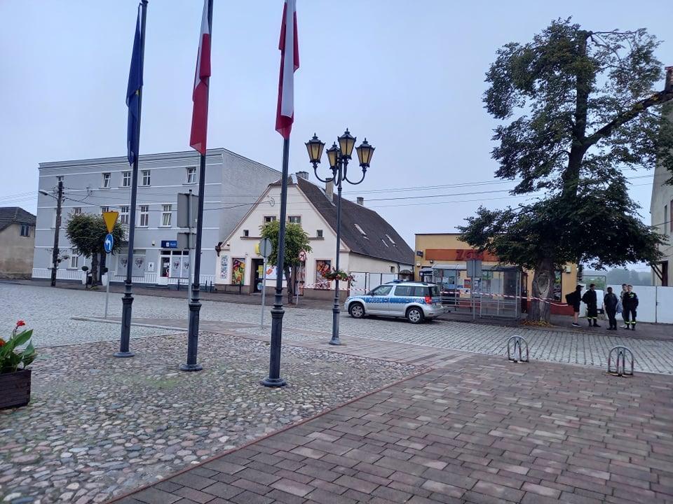 obrzycko wybuch bankomatu - Miasto Obrzycko