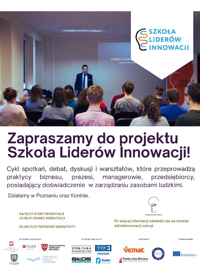 Zostań liderem innowacji 2021 - Organizator