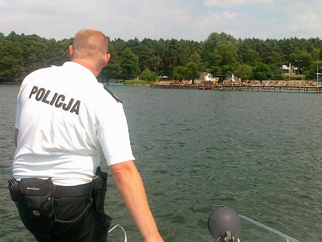 Jezioro w Strzeszynku - policja - Wojciech Chmielewski