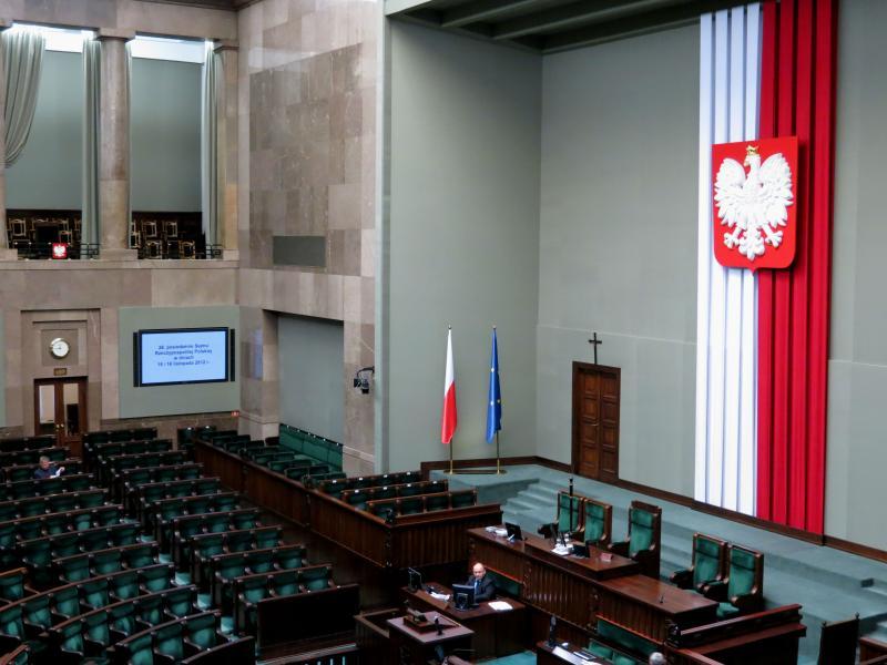 Sejm, krzyż w Sejmie - Katarzyna Werczyńska