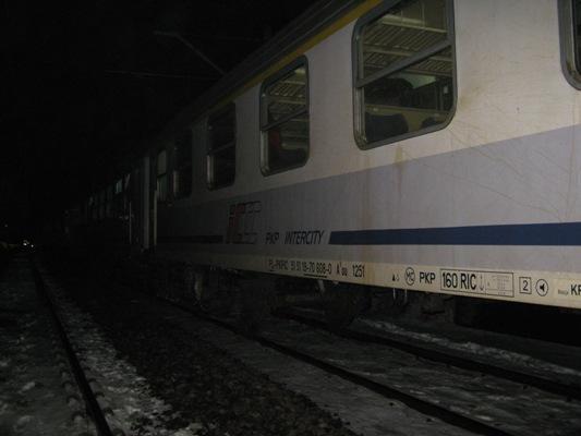 Potrącenie przez pociąg, nocą - Policja/Jarocin