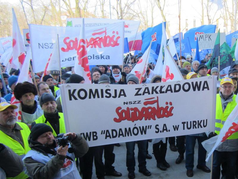 Protest Solidarności - czas pracy - Jacek Kosiak