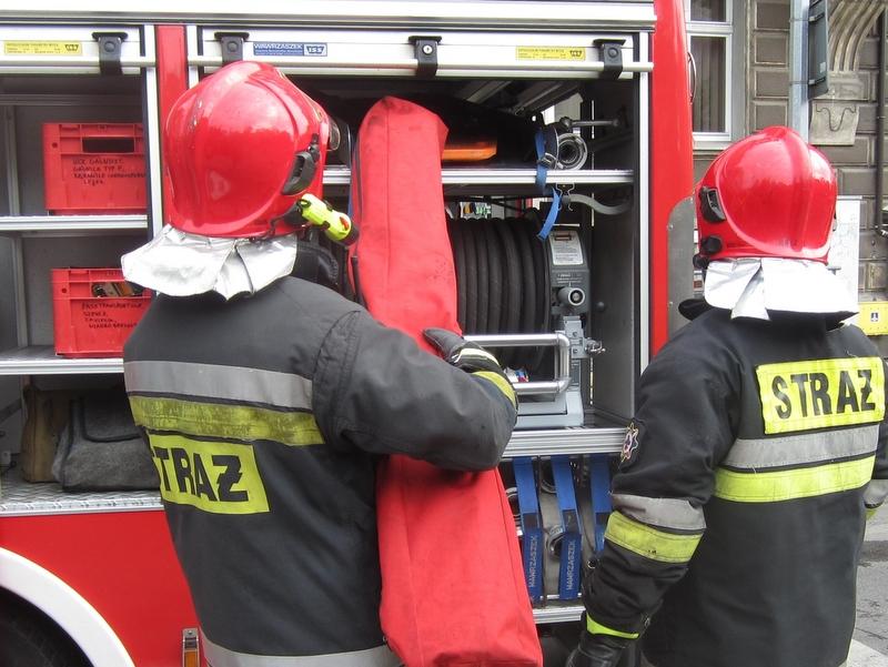 akcja strażaków, ewakuacja ludzi, ćwiczenia - Radio Poznań