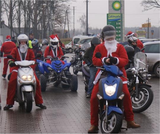Motocyklowe motomikołaje - Motomikołaje