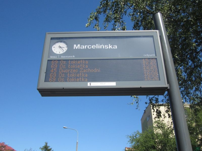 marcelinska tablica rozkład jazdy - Radio Merkury