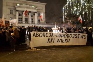 Manifestacje w sprawie aborcji [FILM]