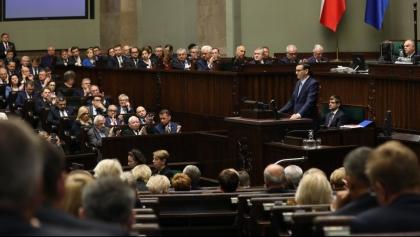Expose premiera: Budowa polskiego państwa dobrobytu i utrzymanie dynamiki PKB