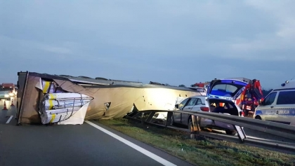 Zablokowana autostrada A2 z Poznania do Warszawy