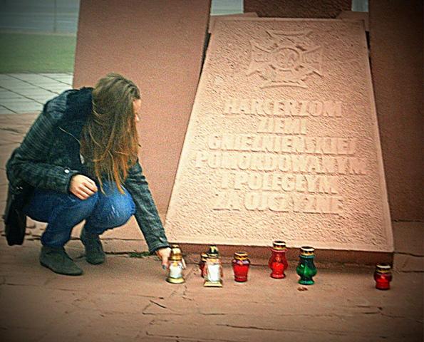 Zapal znicz pamięci - Gniezno. Fot. Michalina Woźniak