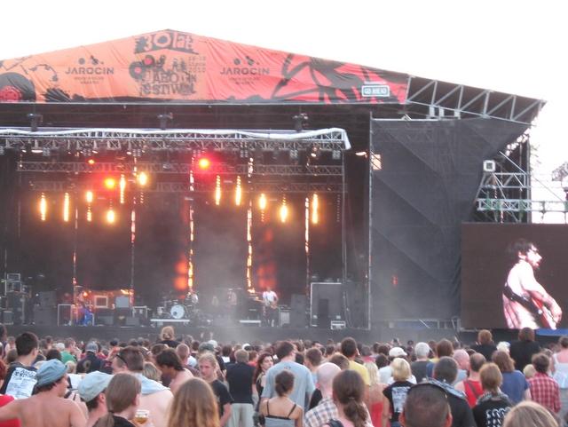 Scena jarocińskiego festiwalu - Radio Merkury